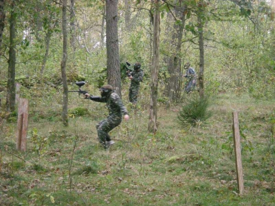 paintball i skogen