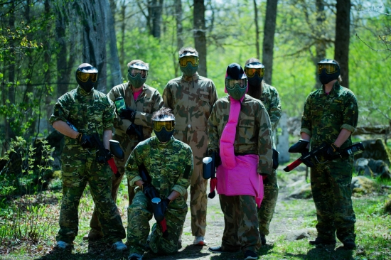A very nice paintball group from Germany